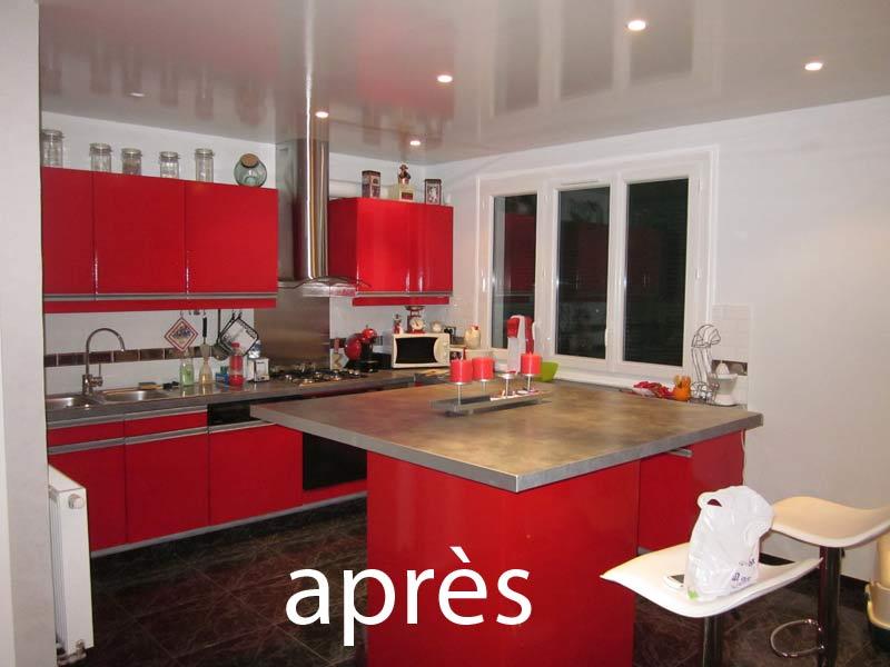 Relooker une cuisine en bois relooking cuisine avec bois for Peinture porte cuisine